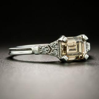 Lang Collection 1.24 Carat Natural, Fancy Dark Orange-Brown Emerald-Cut Diamond Ring - GIA