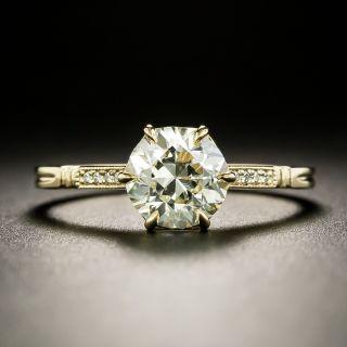 Lang Collection 1.32 Carat European-Cut Diamond Engagement Ring - GIA M VVS2 - 4