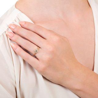 Lang Collection 1.32 Carat European-Cut Diamond Engagement Ring - GIA M VVS2