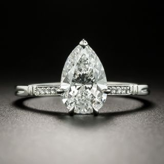 Lang Collection 1.54 Carat Pear-Cut Diamond Engagement Ring - GIA E SI2 - 2