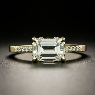 Lang Collection 1.80 Carat Emerald-Cut Diamond Engagement Ring - GIA L SI1 - 3