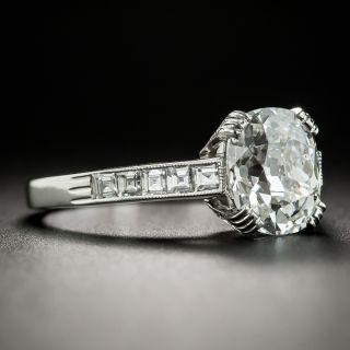 Lang Collection 2.16 Carat Antique Cushion-Cut Diamond Ring - GIA E SI2