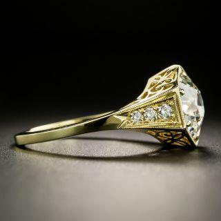 Lang Collection 2.21 Carat Diamond Hexagonal Ring - GIA J SI2