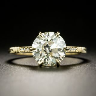 Lang Collection 2.29 Carat European-Cut Diamond Engagement Ring - GIA N VS1 - 2