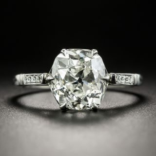 Lang Collection 3.03 Carat Antique Cushion-Cut Diamond Engagement Ring - GIA I VS1 - 2