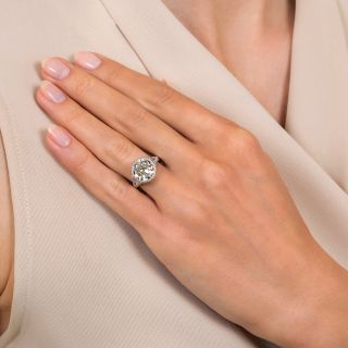 Lang Collection 3.61 Carat Diamond Engagement Ring - GIA O/P VS1