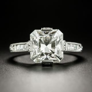 Lang Collection 4.01 Carat Square-Cut Diamond Engagement Ring - GIA J VS1 - 1