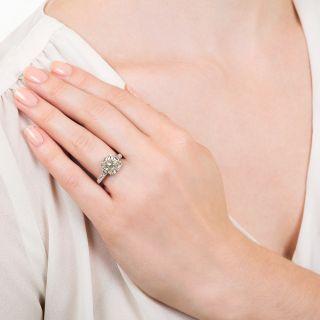 Lang Collection 4.01 Carat Square-Cut Diamond Engagement Ring - GIA J VS1