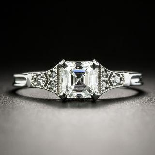 Lang Collection .64 Carat Asscher Cut Diamond Engagement Ring - GIA G VS2 - 2