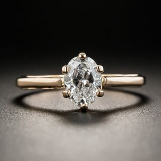 Lang Collection .80 Carat Oval Diamond Ring - GIA E SI1 - 1