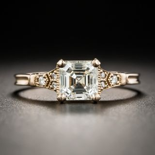 Lang Collection .92 Carat Square Emerald-Cut Diamond Ring - GIA J VS2 - 1