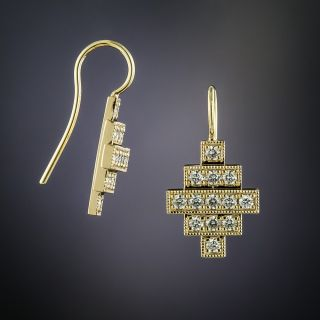 Lang Collection Deco Style Diamond Earrings