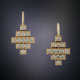 Lang Collection Diamond Earrings - 1