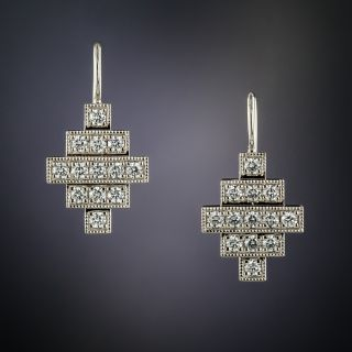 Lang Collection Diamond Geometric Earrings - 2