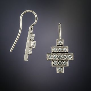 Lang Collection Diamond Geometric Earrings