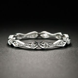 Lang Collection Geometric Diamond Eternity Band