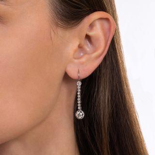 Vintage Diamond Dangle Earrings, Circa 1930s