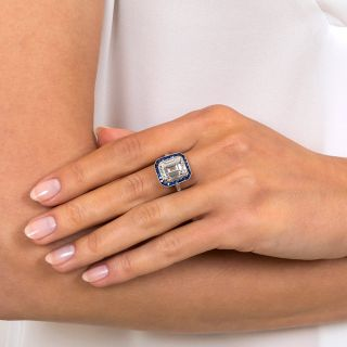 5.11 Carat Emerald-Cut Diamond Art Deco Style Ring - GIA E VVS2