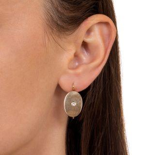 Victorian Oval Diamond Earrings