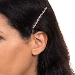 Edwardian Ruby and Diamond Hair Pin