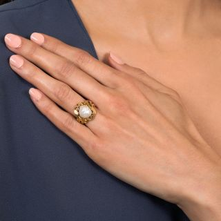 Art Nouveau Freshwater Pearl Ring