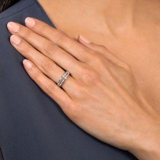 Estate 1.00 Carat Baguette Diamond Wedding Band