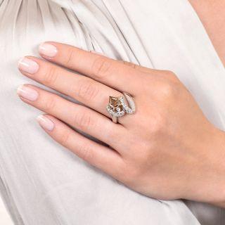 2.01 Carat Natural Fancy Yellowish Brown Diamond Ring - GIA SI1