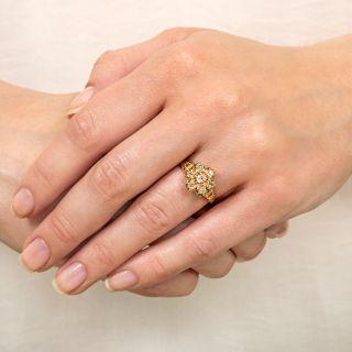 Victorian Old Mine-Cut Diamond Cluster Ring