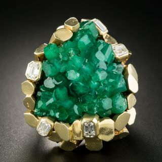 Chatham Crystal Emerald Ring by Ruser - 2