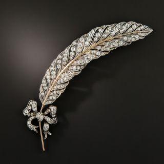 Edwardian Diamond Feather Brooch - 2