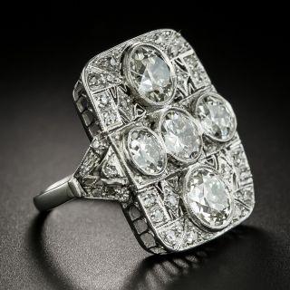 Large Late-Edwardian Diamond Platinum Dinner Ring