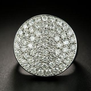Large Pavé Diamond Ring - 2
