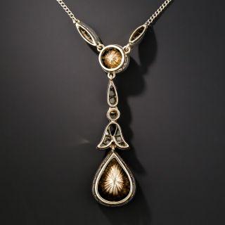 Large Pear Shape Rose-Cut Diamond Drop