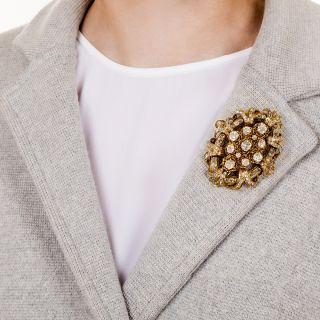 Large Victorian Diamond Brooch