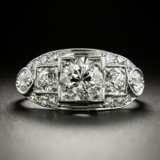 Late Art Deco 1.11 Diamond Engagement Ring - GIA I VS1 - 4