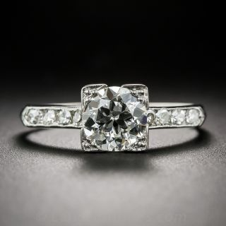 Late Art Deco 1.13 Carat Diamond Engagement Ring - 1