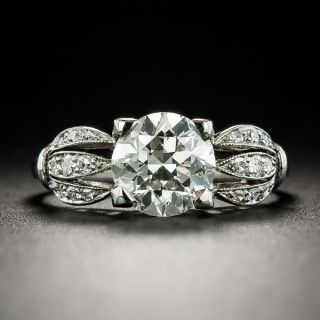 Late Art Deco 1.62 Carat Diamond Engagement Ring - GIA K VS2 - 2