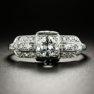 Late Art Deco .50 Carat Diamond Engagement Ring - 2