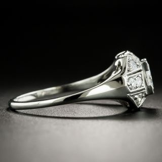 Late Art Deco .51 Carat Diamond Engagement Ring - GIA F VS1
