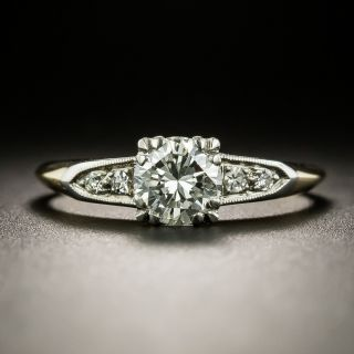 Late Art Deco .73 Carat Diamond Engagement Ring by Byard F. Brogan - 2