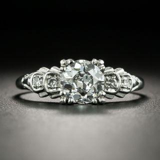 Late Art Deco .96 Carat Diamond Engagement Ring - GIA E VS2 - 2