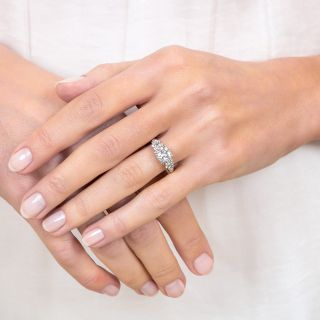Mid-Century .96 Carat Diamond Engagement Ring - GIA E VS2