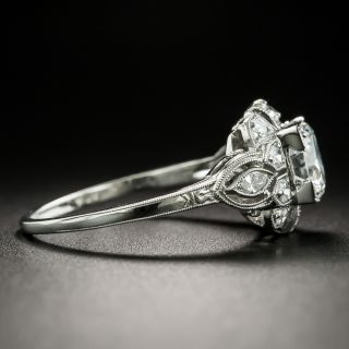 Late Art Deco .98 Carat Diamond Engagement Ring - GIA G SI1