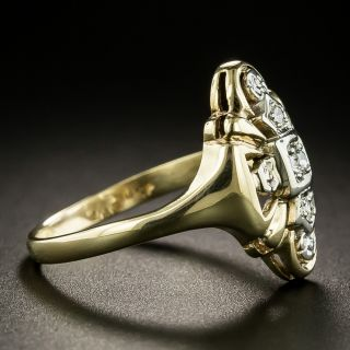 Late Art Deco Diamond Dinner Ring