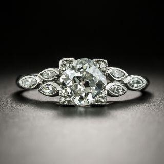Late Deco 1.14 Carat Diamond Engagement Ring - GIA H VS1  - 4