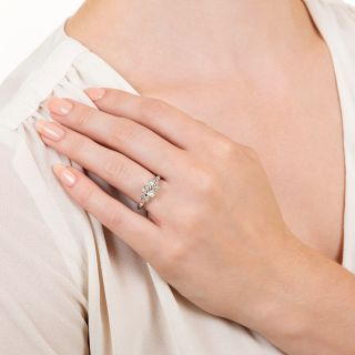 Late Deco 1.14 Carat Diamond Engagement Ring - GIA H VS1