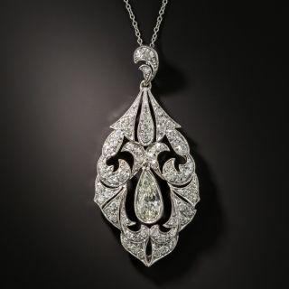 Late Edwardian 1.35 Carat Pear Shape Diamond Necklace - 2