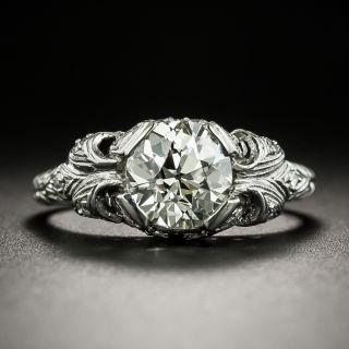 Late Edwardian 1.41 Carat Diamond Engagement Ring - GIA M VS2 - 3
