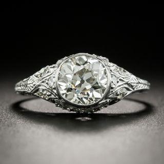 Late-Edwardian 1.51 Carat Diamond Engagement Ring - GIA K SI2 - 3