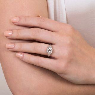 Late-Edwardian 1.51 Carat Diamond Engagement Ring - GIA K SI2